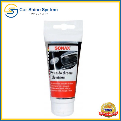 SONAX Chrome Polish Aluminium & Metal Paste Polish Car Motorcycle 75ML Alupaste
