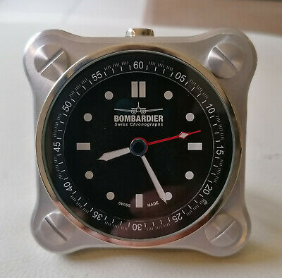 Bombardier Watch & Alarm Clock - Chrome Limited Edition N°1043/1100