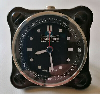 Bombardier Watch & Alarm Clock - Black Limited Edition N°001/100