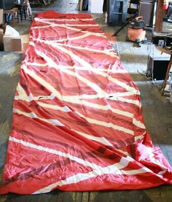 228 sq ft skydiving reserve parachute canopy Red White