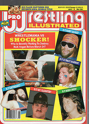 May 1991 Pro Wrestling Illustrated Magazine-Wrestlemania Vii-Arn Anderson Pinup