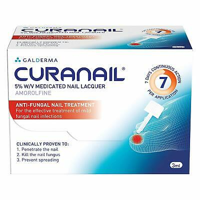 2 x Curanail 5% Fungal Nail Treatment 3ml - FAST AND FREE DELIVERY