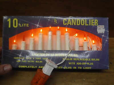Vintage 10 Light Christmas Candolier Candelabra Candles New In Box
