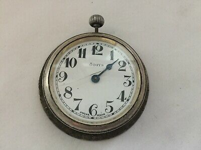 Vintage Military 8 Days Swiss Made Travel/ Pocket Clock Needs Servicing