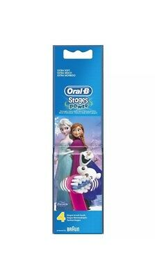 4 Pack Oral-B Stages Disney Frozen Replacement Head Children Electric Toothbrush
