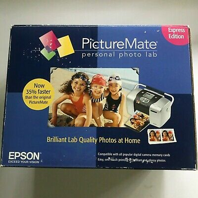 Epson Picture Mate Personal Photo Lab Express Edition Printer UNUSED Open Box
