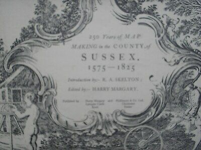 Huge Map Book (Atlas) Margary c1970 '250 yrs Map Making Sussex'