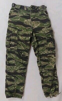VTG 80s Tiger Camo Military Combat Cargo Pants Made in USA 32 x 30