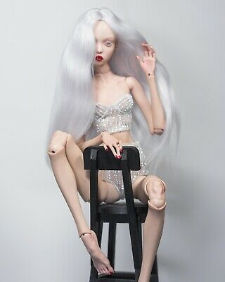 bjd wig for Popovy sisters doll (Angora goat) White Color