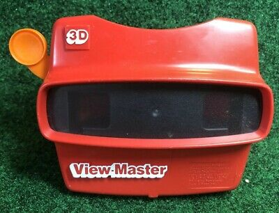Vintage 3D Viewmaster Viewer Red With Orange Handle View Master