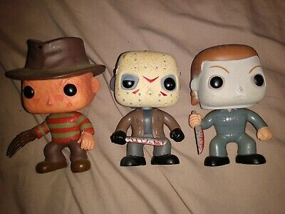 Funko Pop! LOT JASON, FREDDY, & LEATHERFACE NEW