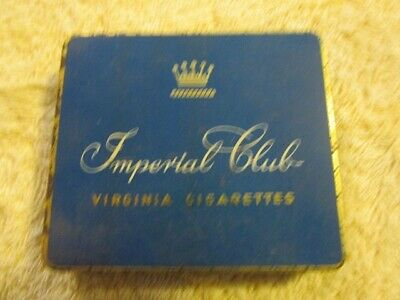 "Vintage Collectable Cigarette Tin - ""Imperial Club"""