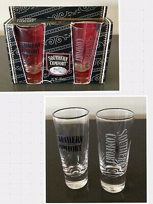 Southern Comfort Set of Two Tall Shot Glasses New in Box
