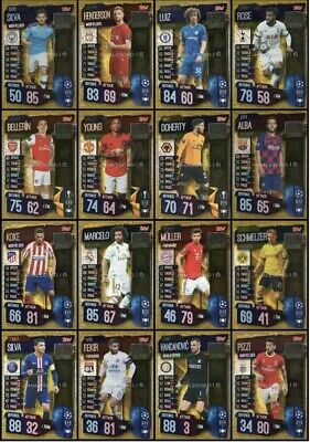 Match Attax 19/20 Full Set 16x Club Legends Mint Condition