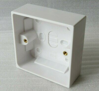 NEW White Plastic Surface Pattress Square Wall Box 85mm x 35mm Ethernet CAT 6 A
