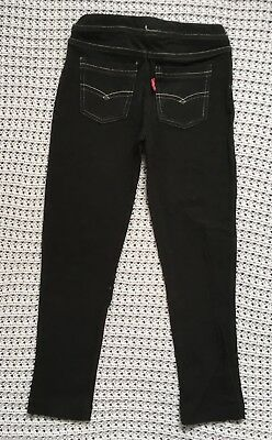 Levi's Girls Black Leggings size 5 VGUC