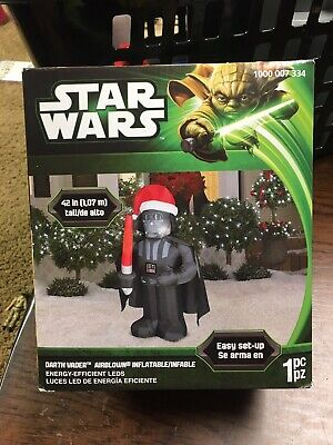 "Star Wars Darth Vader 42"" Christmas Airblown Inflatable Yard Decoration - EUC!"