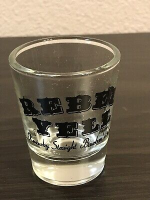 WHISKEY SHOT GLASS NEW  Rebell Yell Complete Box