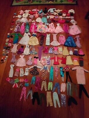 Lot of over 125 Barbie Clothes & Accessories!