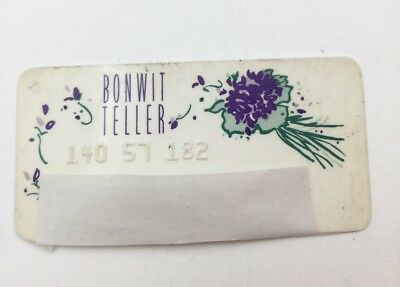 Vintage BONWIT TELLER New York  Department Store Credit Charge Card 1960s