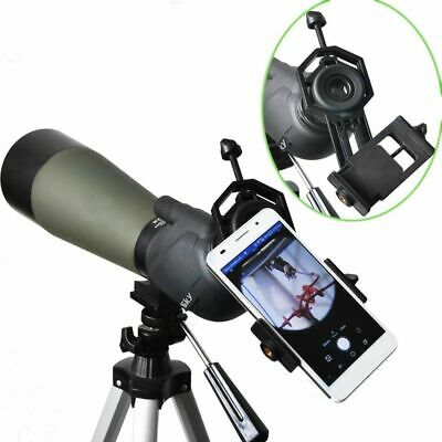Metal Black Mount Telescope Adapter Spotting Scope Binocular Cell Phone Holder