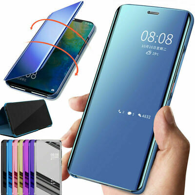 For Xiaomi Redmi Note 8 7 6 5 Pro 4X Mirror View Smart Leather Case Flip Cover
