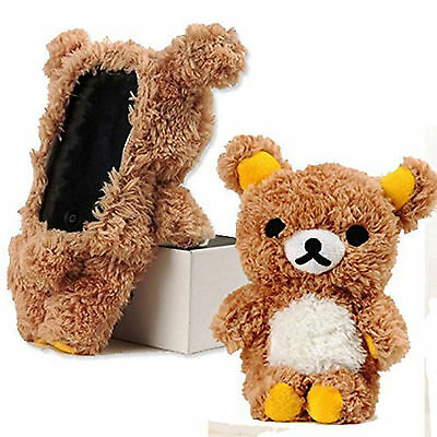 For iPhone 11 Pro Cute Stylish 3D Soft Teddy Bear Doll Plush Toy Back Case Cover