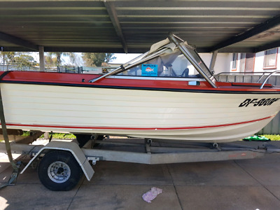 16ft easy rider fishing boat in excellent condition orange