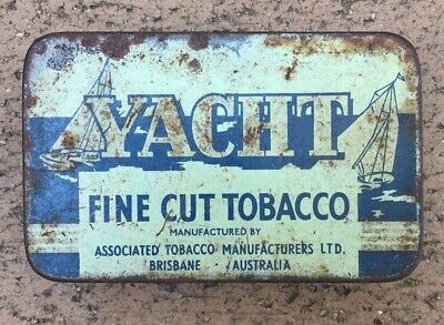 Yaght Tobacco Tin. Associated Manufacturers Ltd Brisbane Australia.