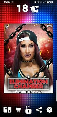 Topps WWE Slam Digital Card 53cc Carmella Elimination Chamber 2019