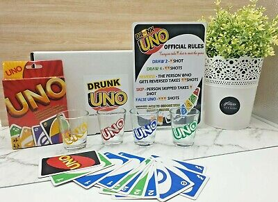 Drunk UNO Game Set - Perfect For Adults Game Night!!