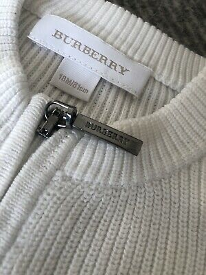 Burberry Baby Girl Boy Cardigan 18m worn only a couple of times