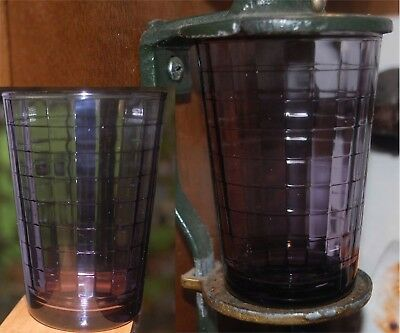 Coffee Catch Cup Glass fits Antique Arcade Golden Rule Grinder Squares Amethyst