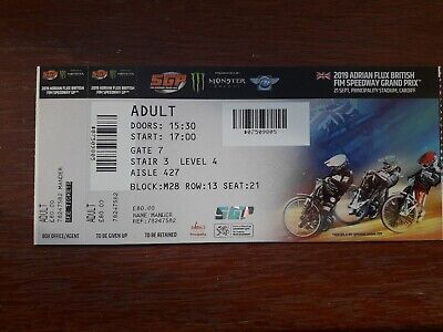 British Speedway GP ticket 2019