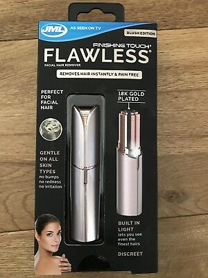 JML Finishing Touch Flawless Discreet and Pain Free Hair Remover: Blush Edition