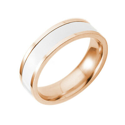 Classical Men/Women's Stainless Steel Yellow Gold Filled Party Ring Gift Size 8