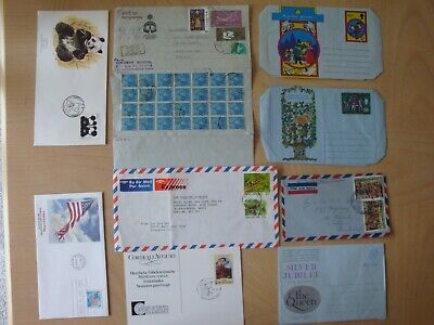 Mixture of Collectable stamps, China & USA FDC, India, Singapore, NZ,Air Mail