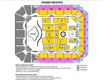2x Shawn Mendes Adelaide Concert Tickets