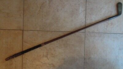 Rare Vintage R Simpson iron hickery golf club - carnoustie arranted Hand Forged
