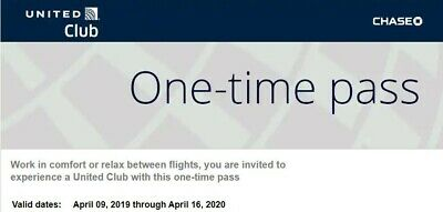 Two United Club Airline Lounge Passes (expire April 2020)