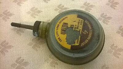 vintage bottle of union lock lubricating graphite by josiah parkes with contents