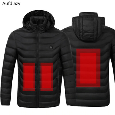USB Heating Jacket Men Women Thermostat Hooded Heated carbon fiber