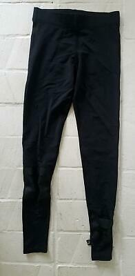 ZARA TEREZ Girls Black Legging Slash Lattice Moto pant Back Medium 8 10 Designer