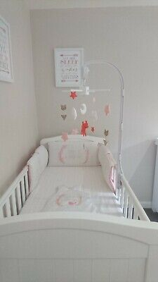 Cot bedding set with bumper 140x70Changing mat and 0-6 sleep bag incl