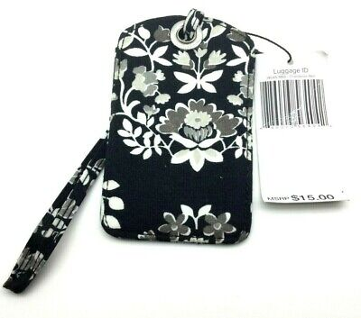 New Vera Bradley Luggage Tag CHANDELIER NOIR - Black White Floral