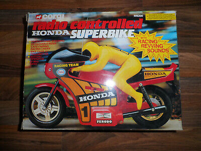 Asahi CORGI HONDA Superbike with Sounds vintage Plastic/Tin Toy Radio Control