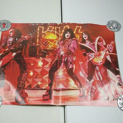 Vintage Kiss Magazine Poster Two Sided
