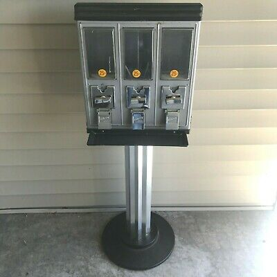 Vintage Northwestern Triple Gumball Toy Candy Vending Machine w/ Stand NO LOCK