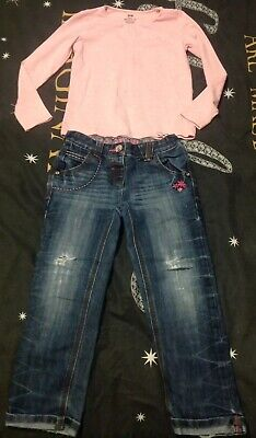 Girls Jeans & Top Age 4/6 Yrs
