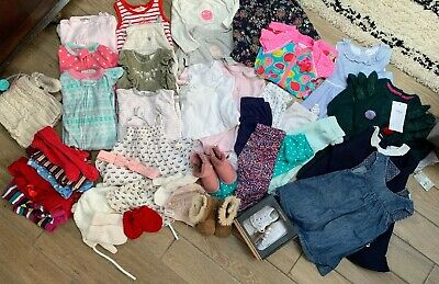 Massive Baby Girl Clothes Shoes Hats Bundle 3-6 6-9 9-12 Mths Emu Absorba Next